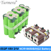 5s2p battery 18650 pack ncr18650b 6800mah hg2 6000mah 18v 21v welding battery pack for screwdriver shura battery customized