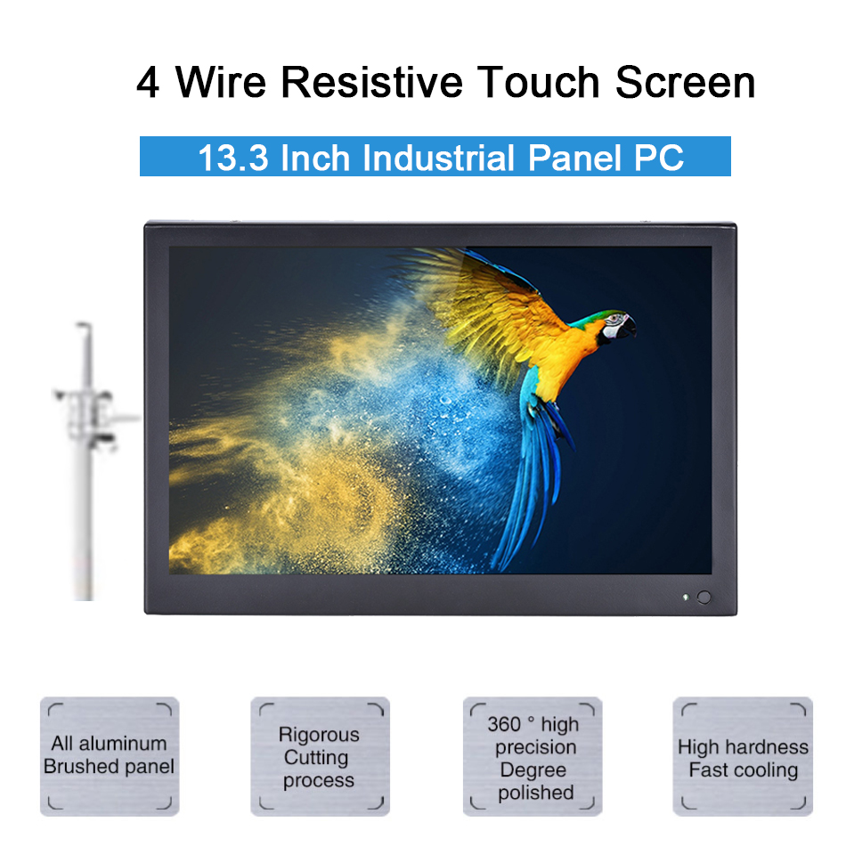 13.3 Inch Industrial Touch Panel PC,4 Wire Resistive Touch Screen,Intel 3855U,Windows 7/10,Linux,[HUNSN DA11W]