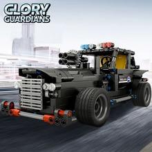 464 pcs RC Robot Car SWAT Command Car DIY Assemble Bricks 2.4G Wireless Remote Control Car Building Block Smart Modular Toys Car