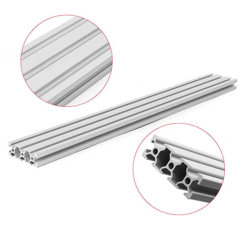 Daniu 200/300/400 Mm Panjang 2060 T-Slot Profil Aluminium Ekstrusi Bingkai untuk CNC 3D Printer plasma Laser Berdiri