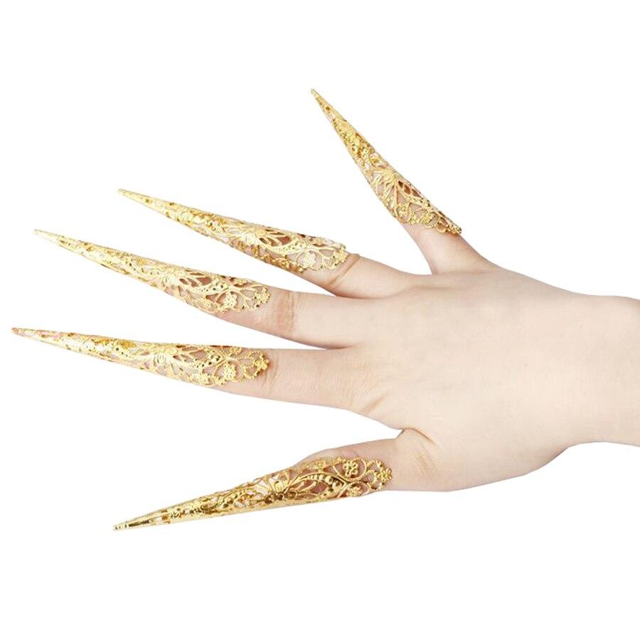 Belly Dance Nail Finger Indian Thai Golden Women Girls Dancing Jewellery Hot