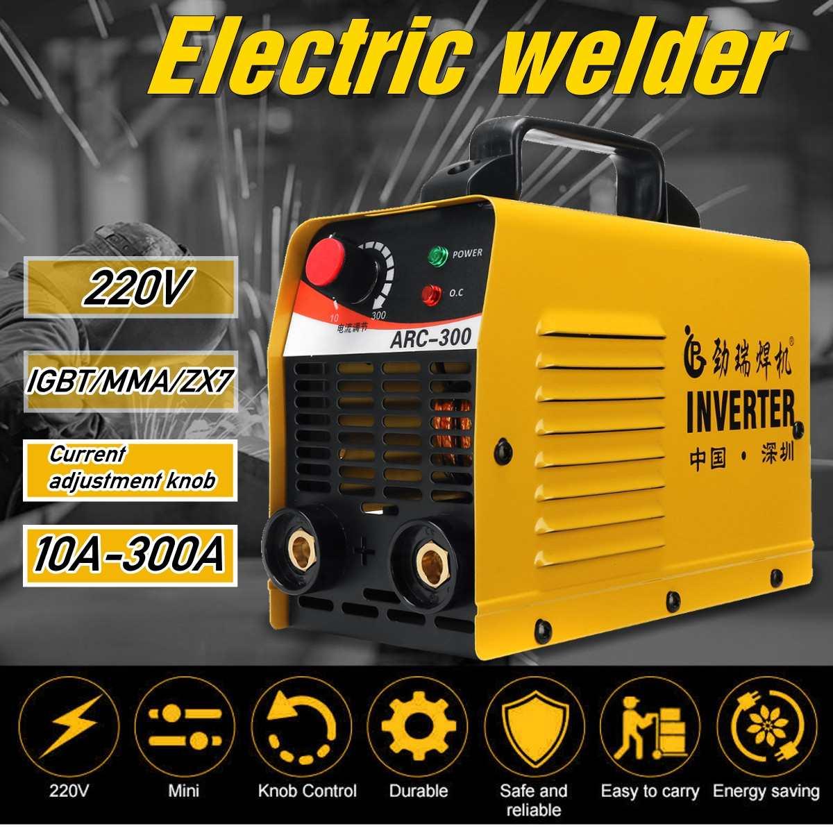 IGBT ARC 10-300A Welder Inverter Welding machine IGBT MMA ARC ZX7 welding machine Easy weld electrode Arc WelderIGBT ARC 10-300A Welder Inverter Welding machine IGBT MMA ARC ZX7 welding machine Easy weld electrode Arc Welder