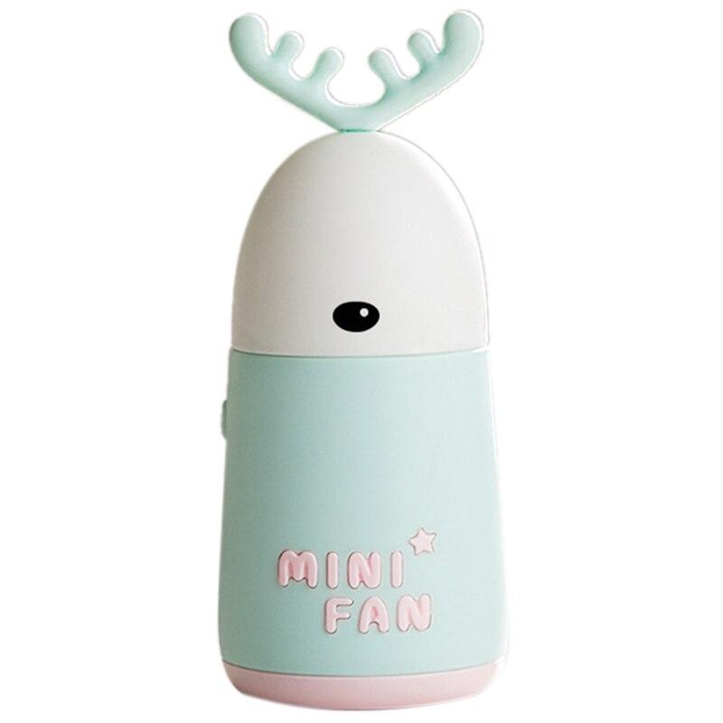 Portable Handheld Fan Desktop Mini Fan Cute Cartoon Deer Ear Shape Fan Charging Fan LightPortable Handheld Fan Desktop Mini Fan Cute Cartoon Deer Ear Shape Fan Charging Fan Light