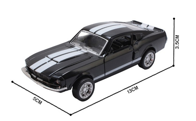 Ford Mustang GT 1967 GT500 Toy Car 13x5x35cm 5
