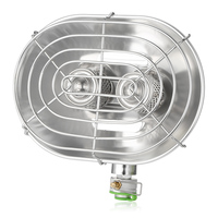 BRS H22 1050W Portable Stainless Steel Gas Heater Camping Warmer Infrared Ray Double Burners Heating Stove