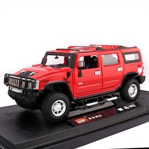 Image 5 - 2019 1:24 Hummer H2 Legering Model Diecast Metalen Auto Speelgoed Voor Kinderen Brinquedos Juguetes Oyuncak Dropshipping Hotwheelsing
