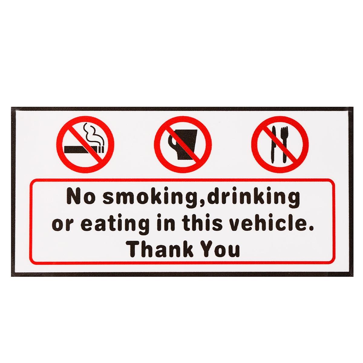 Comer O potable en este veh/ículo coche Van pegatinas 10/x no smoking