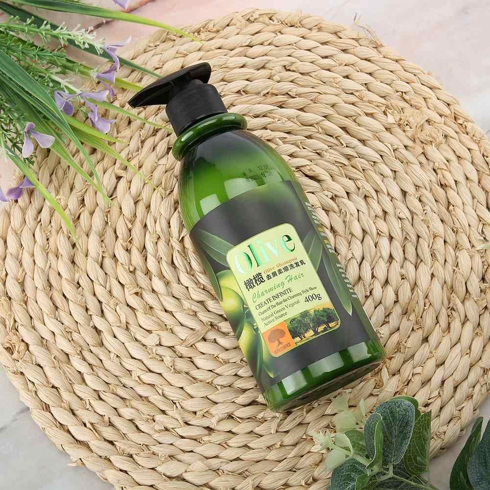 Оливковое масло против перхоти зуд чистый шампунь мягкое плавное увлажнение шампунь для ухода за волосами питательное масло-контроль шампунь гель