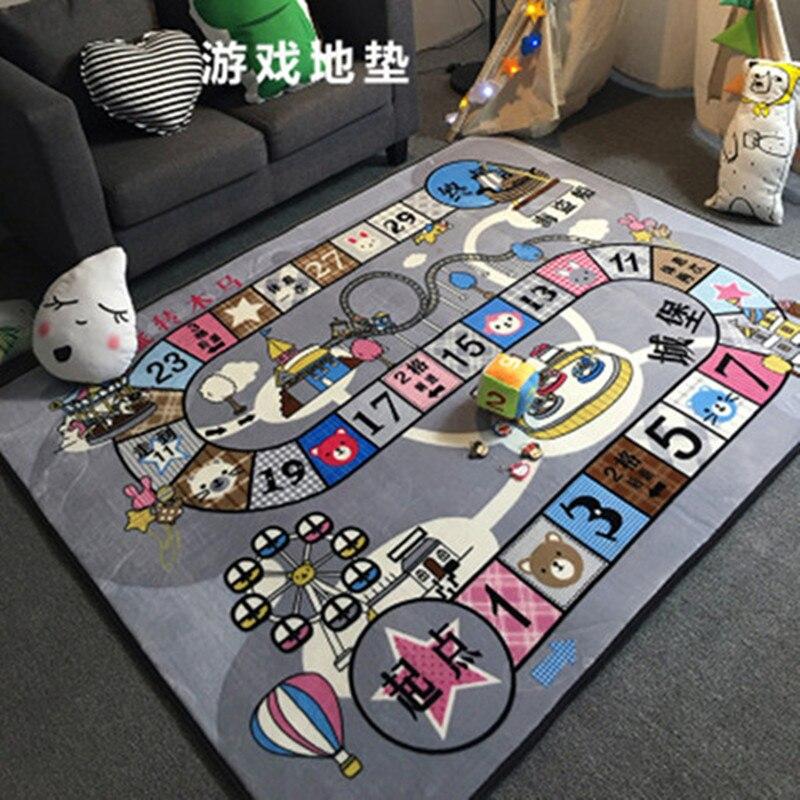 Tapis de cachemire de cristal pour le salon tapis de chambre d'enfants de bande dessinée et tapis Table basse tapis de grande surface tapis de jeu d'enfants