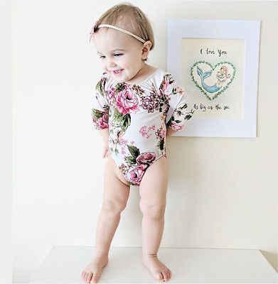 Anak-anak Bayi Gadis Balita Lengan Panjang One Piece Swimsuit Pola Kartun Lucu Pakaian Renang Baju Renang Bikini