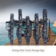 נייד חיצוני דיג שקיות מתקפל חכת דיג Carrier בד דיג מוט כלים אחסון תיק מקרה דיג ציוד דיג