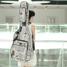 """41 """"어쿠스틱 기타 가방 600d 방수 옥스포드 헝겊 더블 스티치 스트랩 가방 어쿠스틱 기타 용 기타 운반 케이스"""