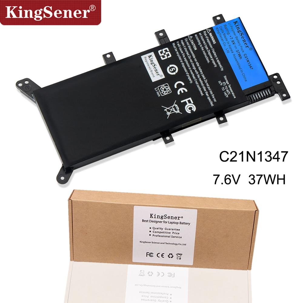 7.5V 37WH KingSener C21N1347 Nytt laptopbatteri för ASUS X554L X555 X555L X555LA X555LD X555LN X555MA 2ICP4 / 63/134 C21N1347