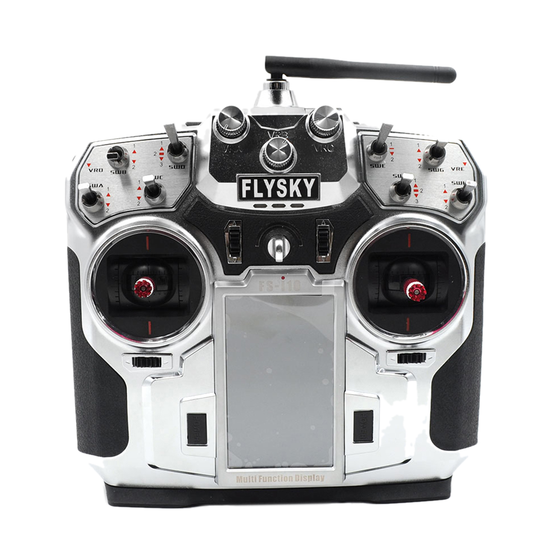 2 4G Flysky FS T6 6CH LCD RC Model Remote Control Compatible with  Multi-axis - Black Silver Left Right Hand Accelerator