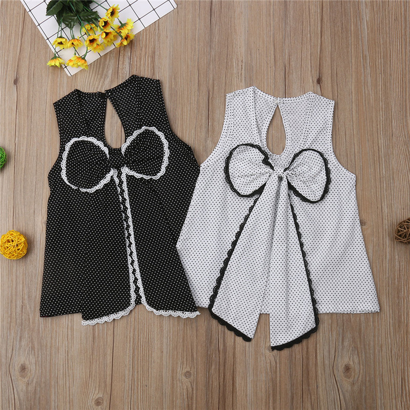 Children T-Shirt Tops Clothing Girl Baby Princess Kids Sleeveless Lace Casual for Vest