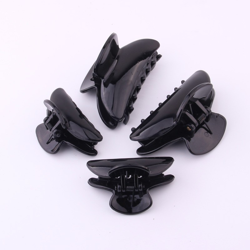 2 PIECES/LOT DIY Plastic Hair Clamps Accessories Big Size Hair Claws Shining Black Grasp Clips Shower Clips For Women ON SALES