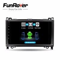 Funrove android 8.0 Штатня Навигация Автомагнитола мультимедиа 2 Din c 9 Дюймовым Экраном на Android для Mercedes/Benz/Sprinter/Viano/Vito/B class/B200/B180 с Поддержкой CANBUS канбу