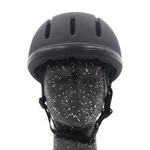 Casco de equitación profesional, tamaño ajustable, cubierta de media cara, casco protector, equipo de seguridad para jinetes Questrian