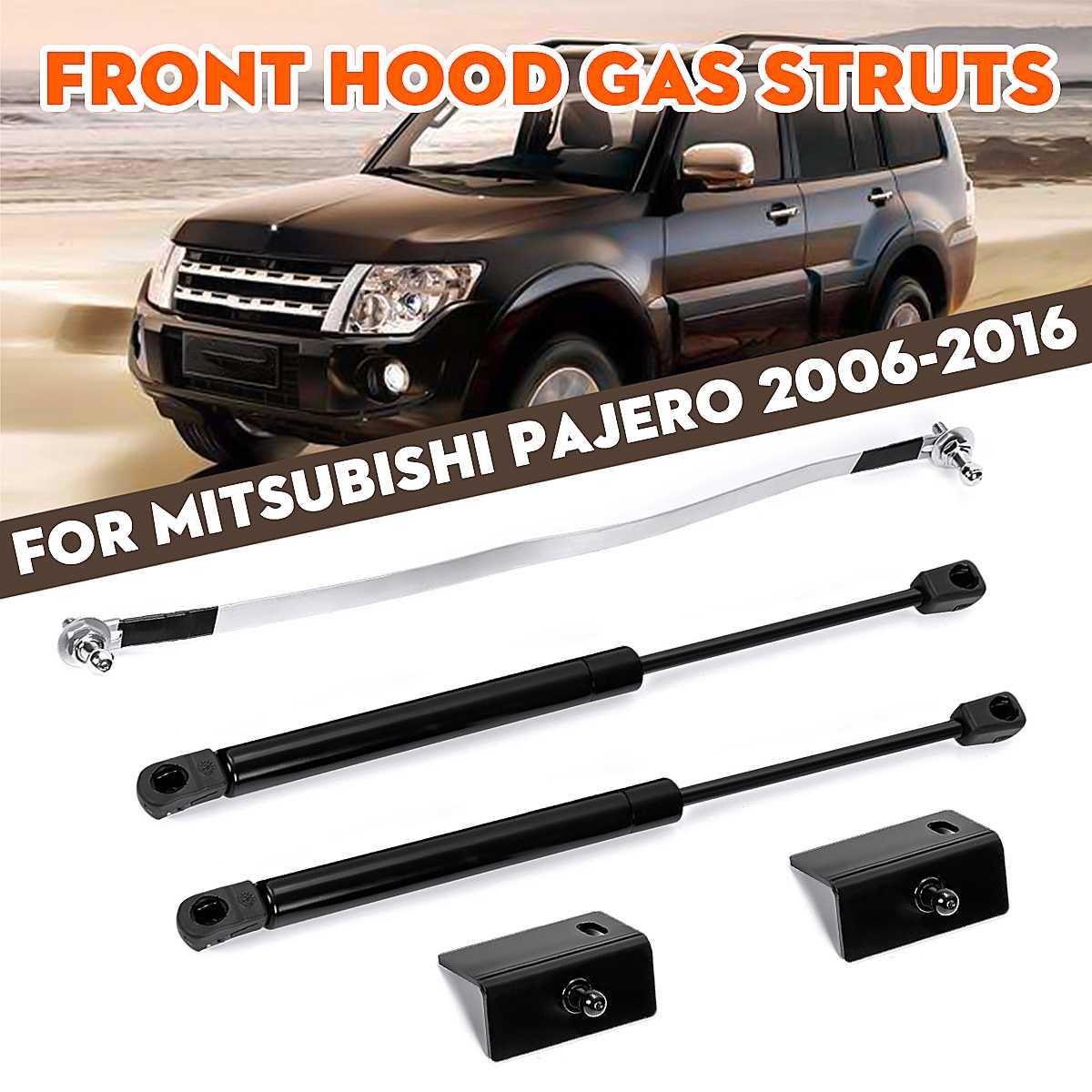 Car Front Engine Cover Hood Shock Lift Strut Struts Bar Support Props Rod Arm Gas Spring Bracket For Mitsubishi Pajero 2006-2016