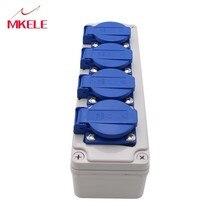 Hot-verkoop M-socke004 Waterdicht Stopcontact Switcher & Socket Met Splash Proof Box (10A 220V) 80*250*85mm Protector