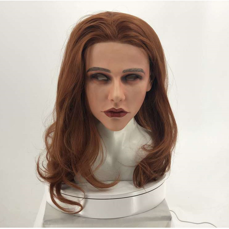 2019 Full Head High quality Newest Style  Popular Silicone Female Mask Realistic Woman