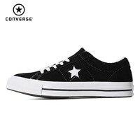 Конверс One Star Классические Оригинальные парусиновые мужские и женские дышащие туфли для скейтбординга низкие модные кроссовки # 158369c/161613C