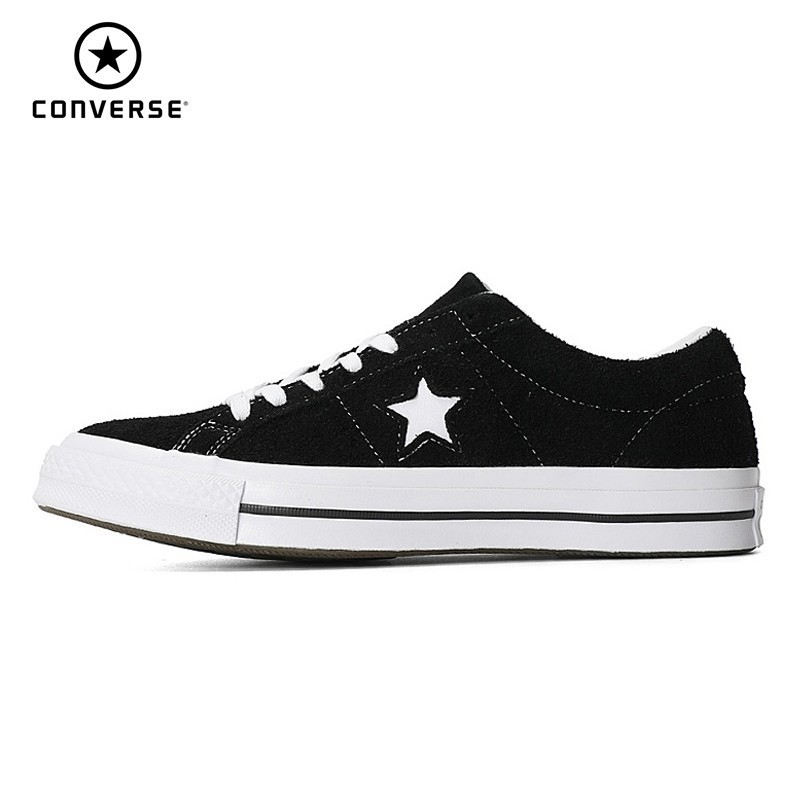 CONVERSE One Star Classic Original Canvas Men And Women Breathable Skateboarding Shoes Low Help Fashion Sneakers#158369c/161613C