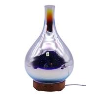 100ml Glas Aromatherapie luftbefeuchter Ätherisches Öl Diffusor Ultraschall luftbefeuchter 3d Aromatischen Nacht Licht Aroma Ätherisches Öl W|Luftbefeuchter|   -