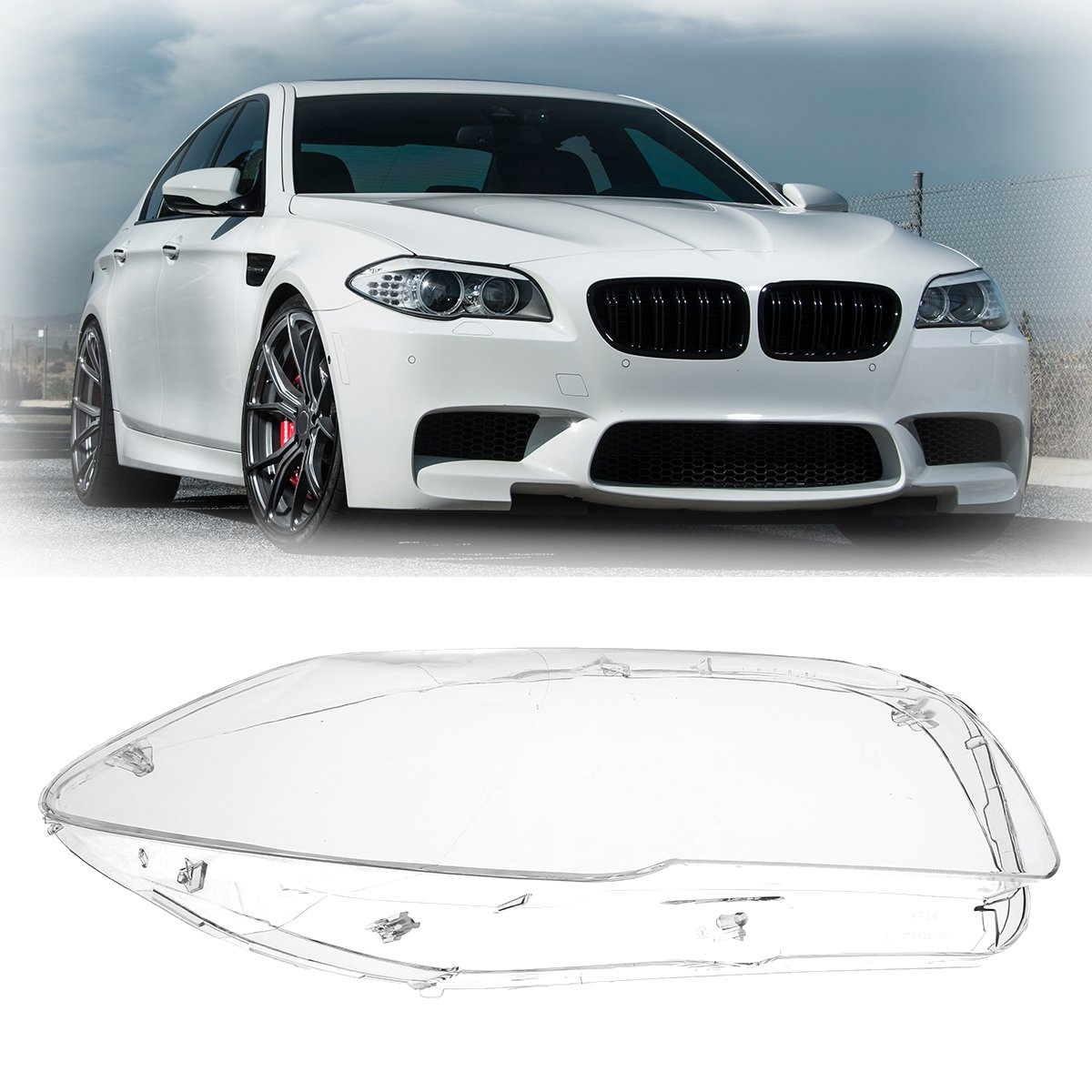 Car Headlight Clear Lens Cover Headlamp Shell  Right /Left Side For BMW 5 F10 F18 520 523 525 535 530 2010-2014Car Headlight Clear Lens Cover Headlamp Shell  Right /Left Side For BMW 5 F10 F18 520 523 525 535 530 2010-2014