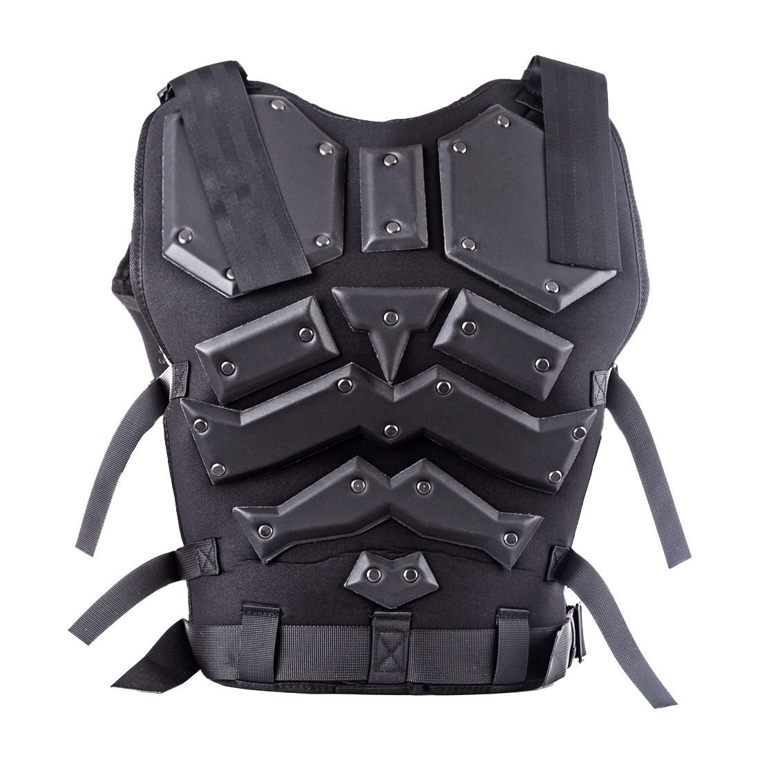 WST Kong Kim Military Tactical Vest 600D Nylon Airsoft Paintball Vest - Black