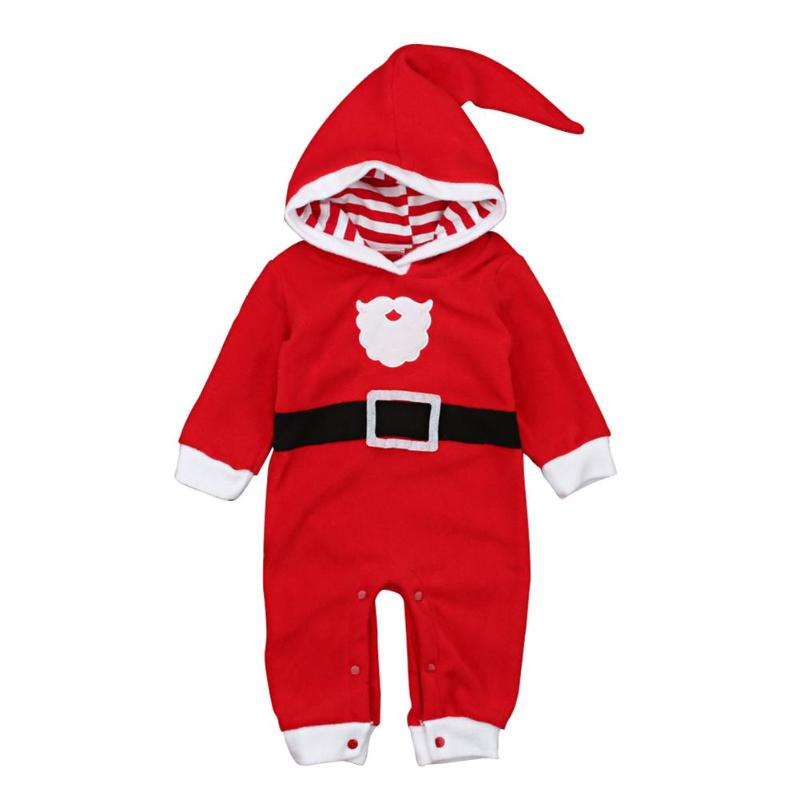 Long Sleeve Boys <font><b>Girls</b></font> <font><b>Christmas</b></font> <font><b>Romper</b></font> Thicken Warm <font><b>Baby</b></font> Jumpsuit Soft Newborn <font><b>Baby</b></font> <font><b>Rompers</b></font> Children Hooded <font><b>Clothes</b></font> Cute Outfit image