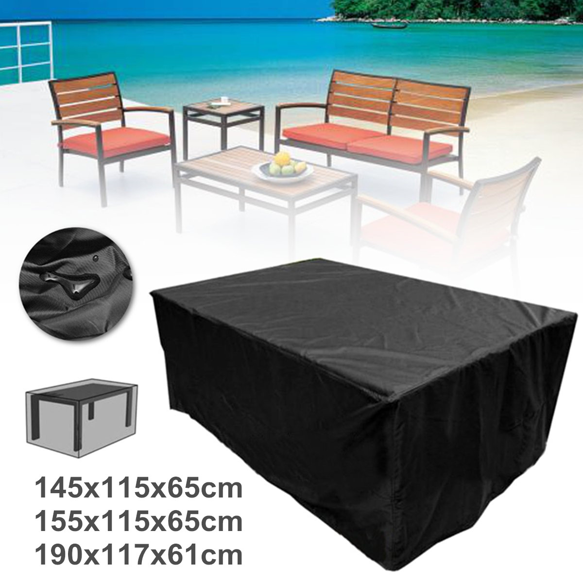 Waterproof Polyester Patio Table Cover 3 Sizes All-Purpose Chair Set Outdoor Furniture Cover Protective Dust Covers Garden PatioWaterproof Polyester Patio Table Cover 3 Sizes All-Purpose Chair Set Outdoor Furniture Cover Protective Dust Covers Garden Patio