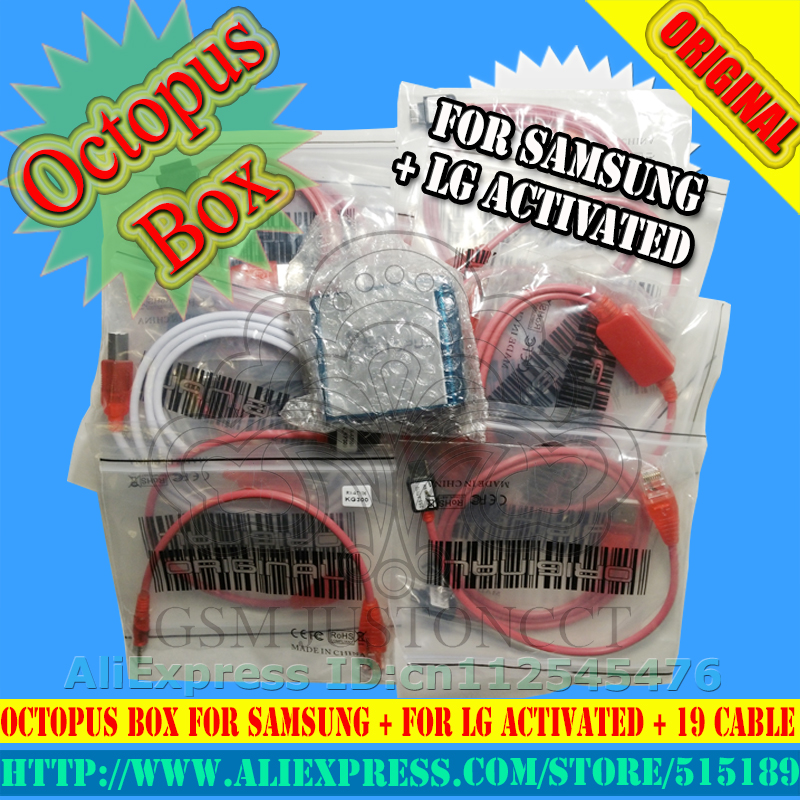 Original Octopus/octoplus  box Full activated for LG  for Samsung 19cables including optimus Cable  Unlock Flash & Repair Tool-in Telecom Parts from Cellphones & Telecommunications    2