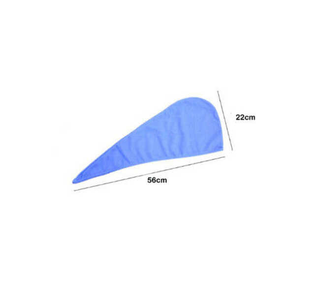 Faroot 56x22 cm Sợi Nhỏ Thấm Tóc Quấn Khăn Khô Tắm Spa Head Cap Turban Quấn Xoắn Nhanh Chóng Khô mũ tắm Áo Choàng Tắm Hat
