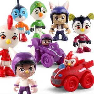 Image 1 - 6 ピース/セットトップ翼アクションフィギュアおもちゃ車フィギュア迅速、ロッド、ペニー、ブロディおもちゃコレクション人形 7 センチメートルキッズギフト