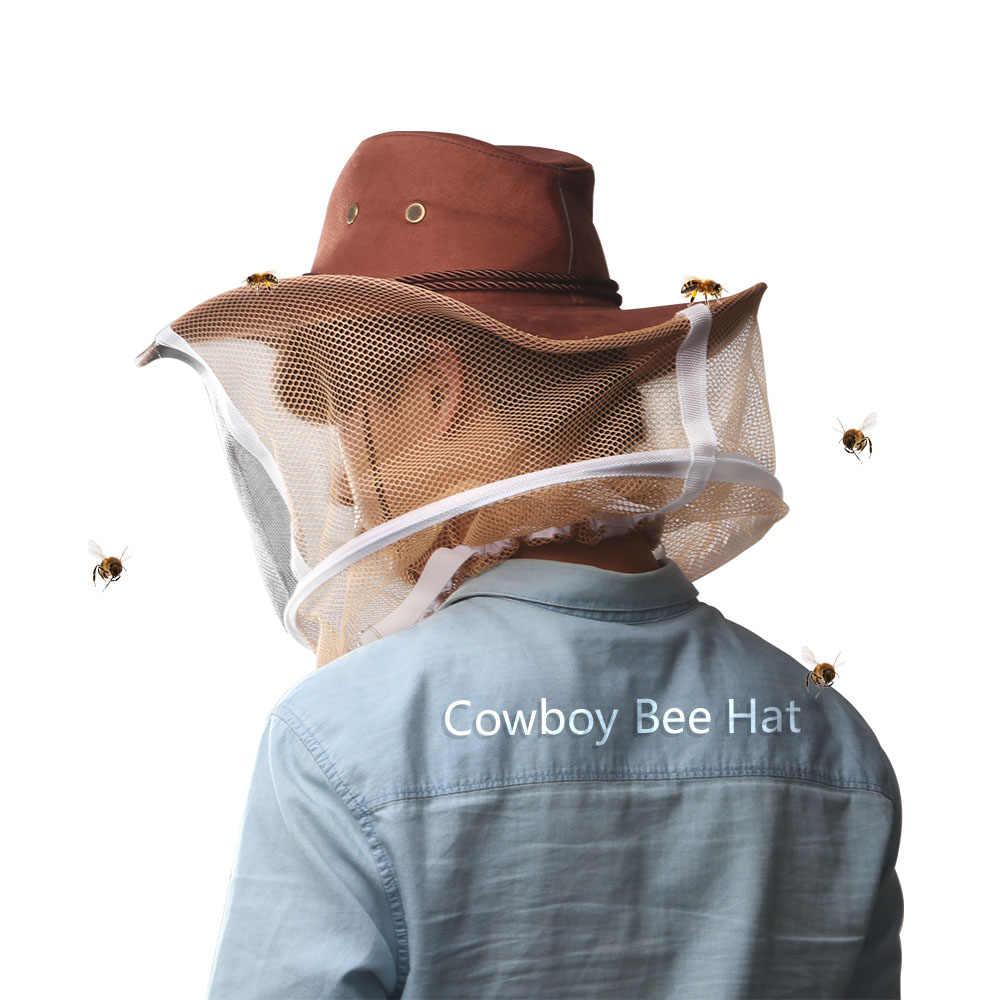 Camouflage Bijenteelt Hoed Imker Hoed Mosquito Bee Netto Sluier Volledige Gezicht Hals Cover Outdoor Bug Mesh Masker Hoofd Beschermkap