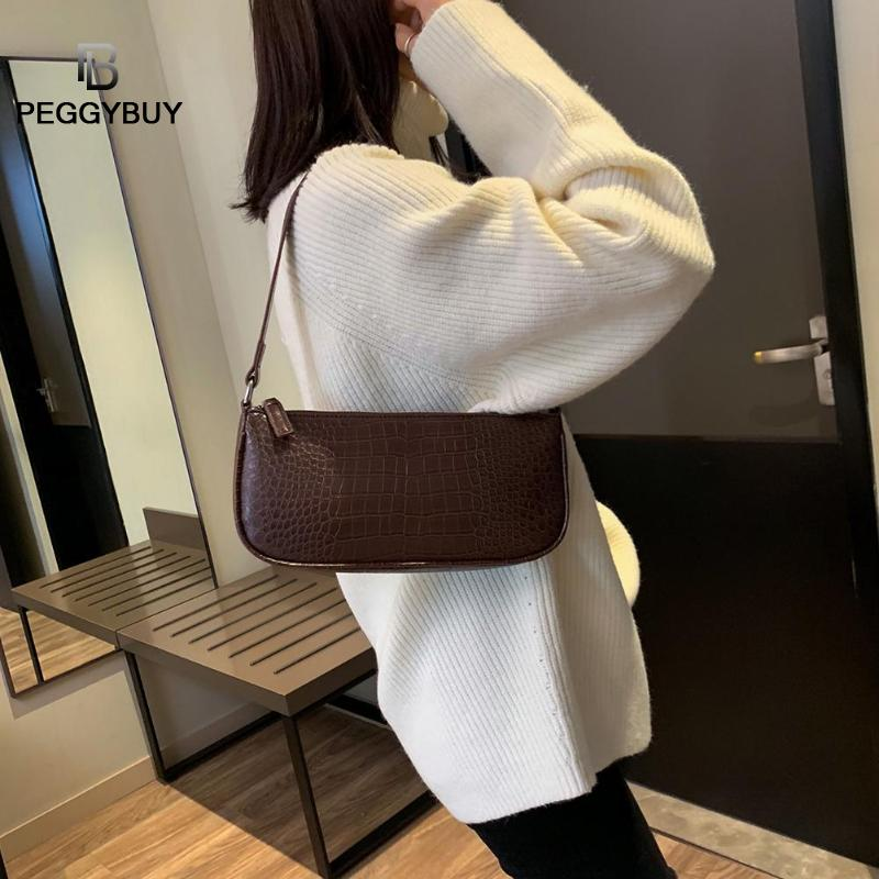 Retro Alligator Pattern Women Messenger Flap Handbags PU Leather Street Casual Solid Zipper Shoulder Bags Bolsa Mujer 2019 New