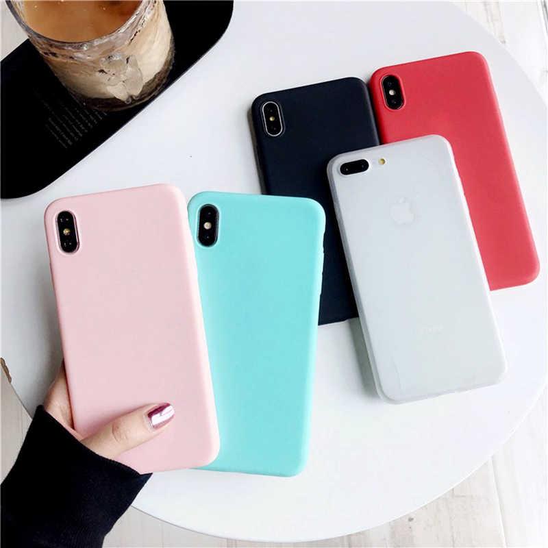 LOVECOM чехол для телефона для iPhone XS Max XR 6 6 S 7 плюс 8X5 5S SE горячие яркие однотонные Цвет Мягкий Силиконовый ТПУ для телефона задняя крышка случаях