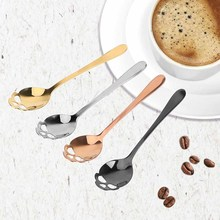 Spoon Skull-Style Tableware Ice-Cream Stainless-Steel Small for Snacks Party-Buffing
