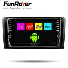 Funrover 8 ядер android 8.1 2 din автомобильный dvd Штатная Автомагнитола навигация с видео регистратор с Сенсорным 8 Дюймовым Экраном 2 Din на для автомобилей Mercedes/Benz/ML/GL CLASS W164 ML350 ML500 GL320 Canbus 4G