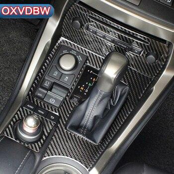 Para LEXUS NX 300H200T acessórios Console Central Engrenagem painel Tomada Painel decorar adesivos de fibra de carbono guarnição interior automotivo