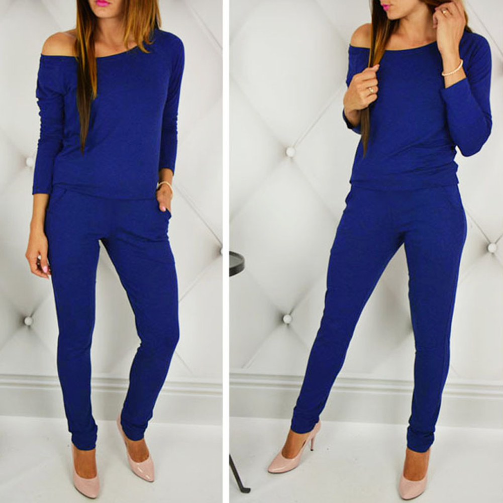 Women Jumpsuit Playsuit Ladies Sportswear Long Pants Tops Clubwear Bodysuit Spring Long Home Wear Comfortable Casual Jumpsuits in Jumpsuits from Women 39 s Clothing