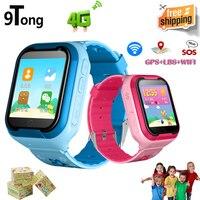 9 Тонг 4G gps Смарт часы Дети sos вызов Smartwatch телефон sim карты будильник Шагомер Смарт часы детей с Камера pk q90