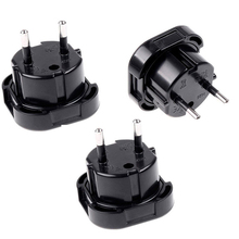 4cm New Travel UK To EU 240V Adapters High Quality Euro Plug AC Power Charger Adapter Converter Socket Black Mayitr