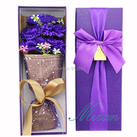 2019 Mother's day Gift 7 Colors Soap Carnation flower bouquet gift (free Customize Ribbon Tie)