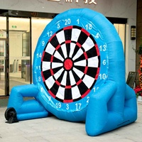 3 Meter 9.8ft Giant High Inflatable Football Dart Board Soccer Bouncer Outdoor Sport Games Inflatable Dart Board With Air Blower