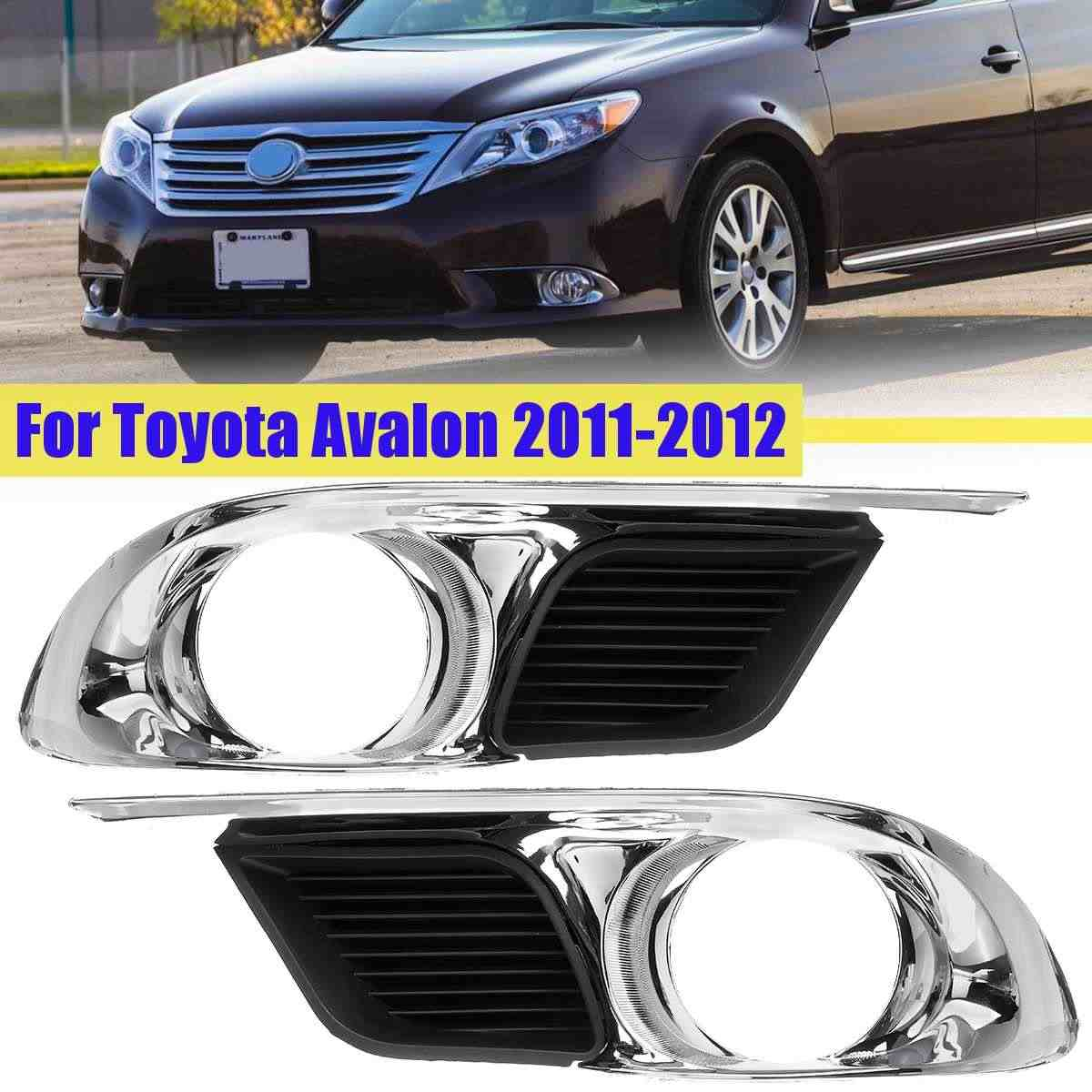 1 pcs /2pcs Front Left/Right Fog Light Lamps Frame Covers Trim For Toyota Avalon 2011-2012 5204007040 TO1038156  Car Accessories