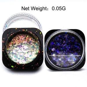 Image 5 - Yucca pul tırnak Glitter toz madeni pul bukalemun tırnak gevreği Yuki ayna güç tırnak tasarım Sequins çivi için SF3043