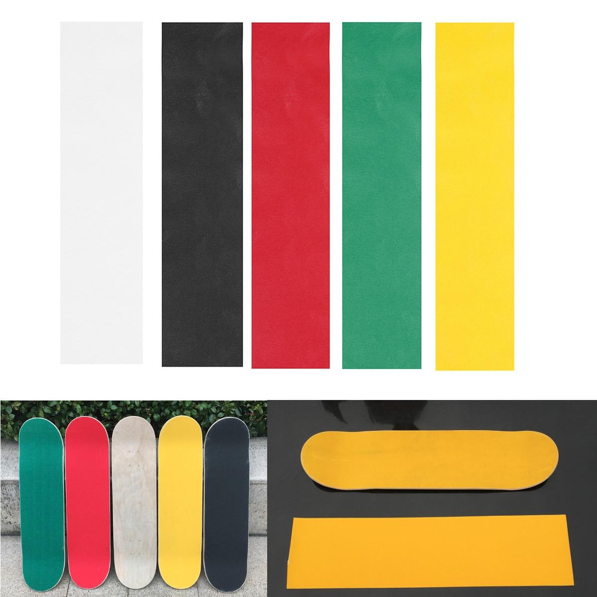 Professional Skateboard Deck Sandpaper Grip Tape Griptape Skating Board Sticker Longboard Accessories 32''x9'' 80X23cm 5 Colors