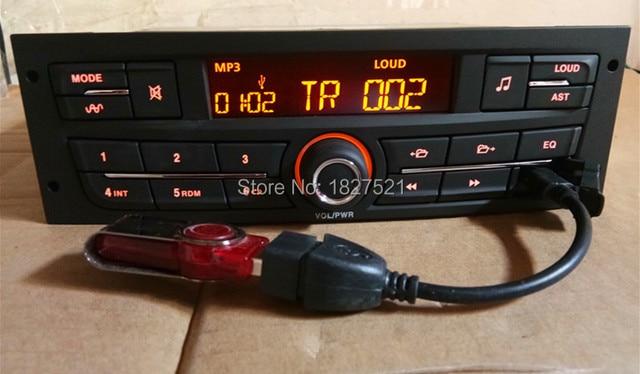 Coche reproductor de Audio MP3 FM estéreo con USB para Peugeot 207, 206, 301, 307, 308 Citroen C2 Elysee ZX C4 V W J etta Bora